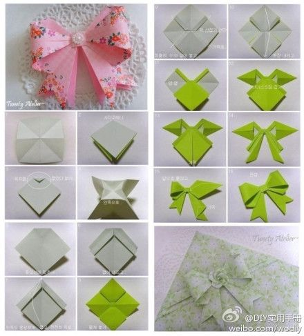 Paper Craft Making A Bow Tie Products I Love Origami Origami