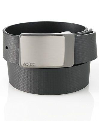 Kenneth Cole Reaction Belt, Reversible Embossed Strap Belt - Mens Belts, Wallets & Accessories - Macy's