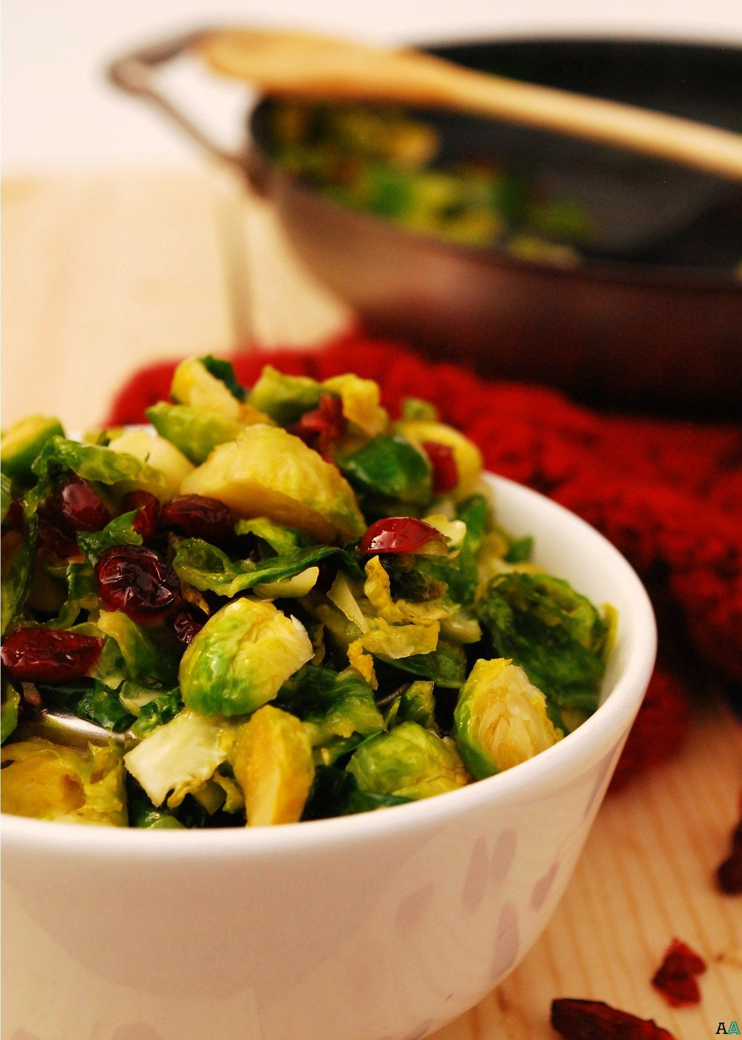 Carmelized Brussels Sprouts with Craisins (GF, DF, Egg