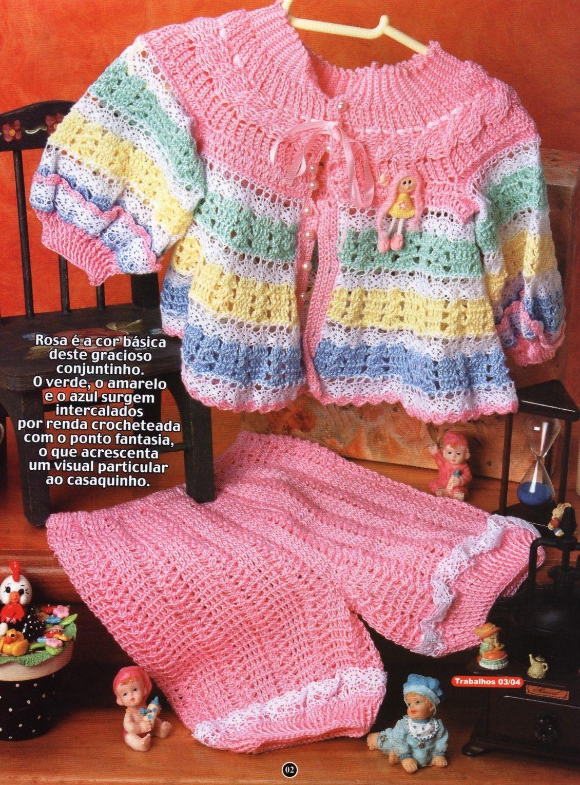 Delicadezas en crochet Gabriela: Ropa de bebé paso a paso