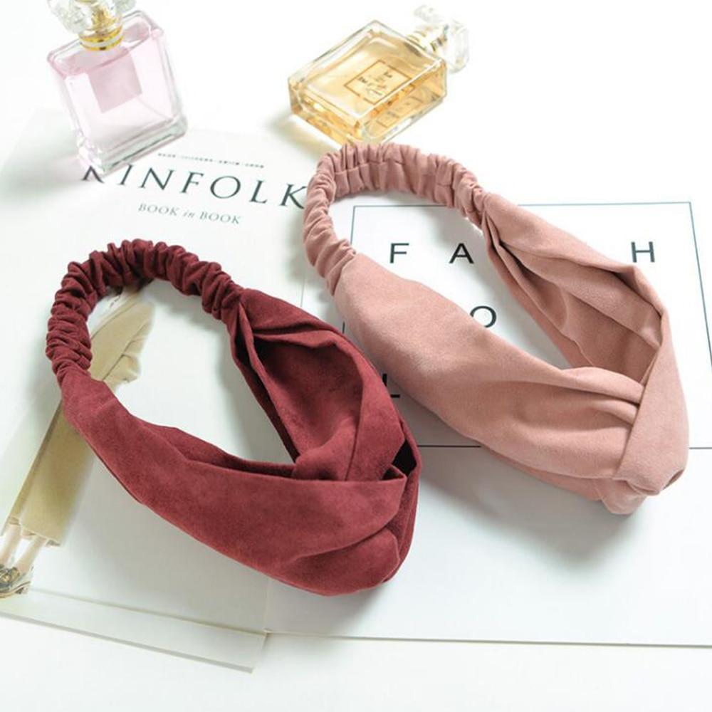Fashion Cotton Knot Headband Flower Hair Accessories for Women Girls Turban Elastic Hairband Head Wrap Striped Headwear W276