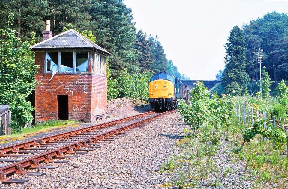 Passing Glamis signal box 4the June 1982 in 2020 House
