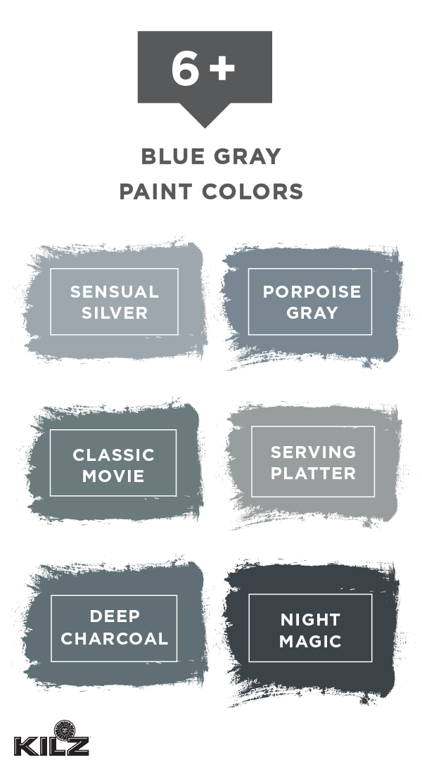 We Re Loving This Collection Of Gray Paint Colors With Blue Undertones From Kilz Complete Coat Primer In One Explore Dark Moody Shades Like