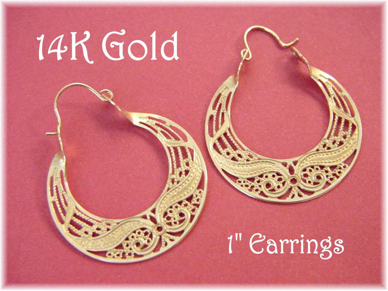 14K Gold - Spiral Swirl Filigree 1