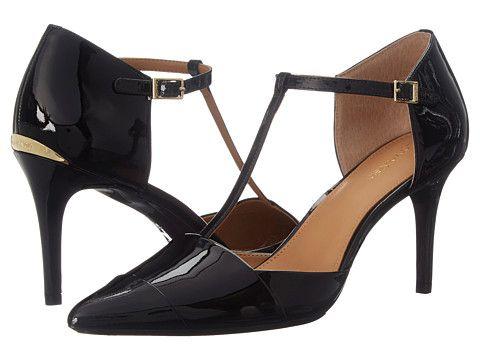 Womens Shoes Calvin Klein Ginae Black Patent