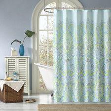 Microfiber Celeste Shower Curtain