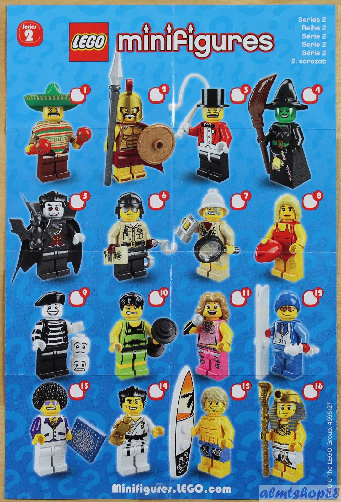 lego mini poster leaflet minifigures series 1 2 3 4 5 6 7 8 9 10 11 12 13 14 15 lego legos. Black Bedroom Furniture Sets. Home Design Ideas