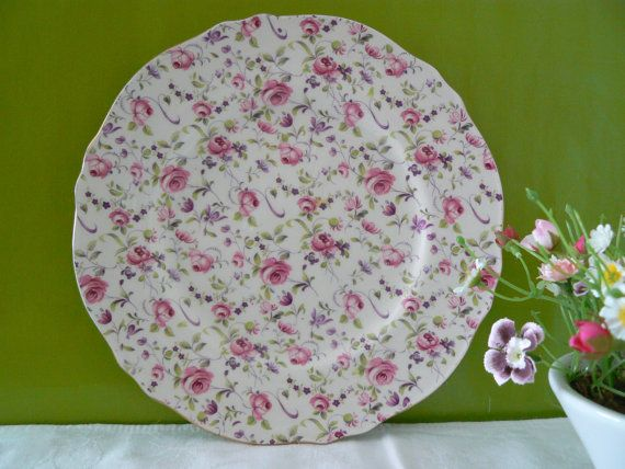 Royal Winton Grimwades vintage pink roses by MaddyVintageHostess, £22.00
