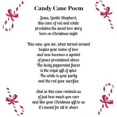 Cute printable Candy Cane Poem along with a FREE printable
