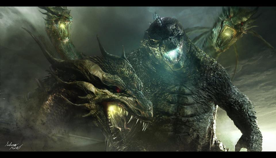 Godzilla 2014 & Ghidorah