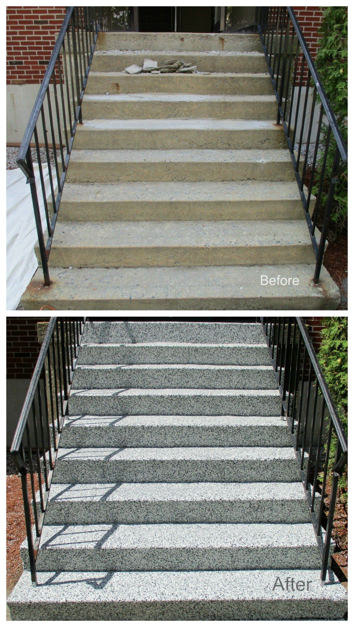 Concrete Stairs Resurfacing   Lowell MA