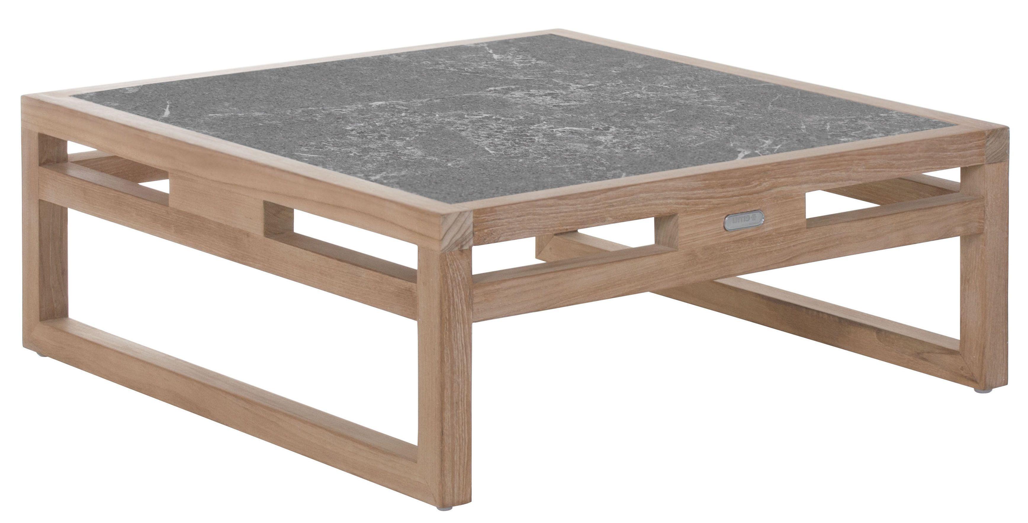Table Basse Kontiki Pierre De Lave 80x80 Cm Pierre De Lave Grise