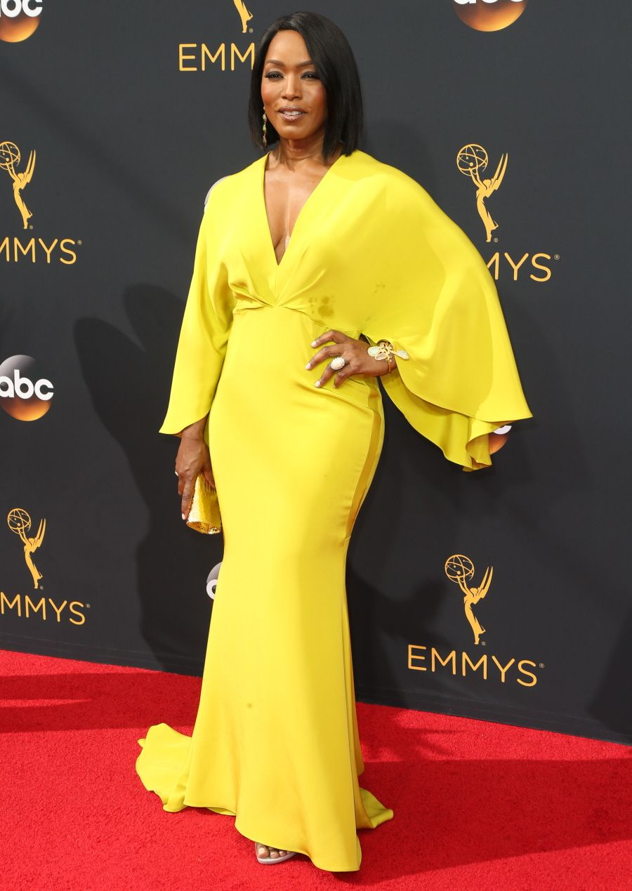 530b96a76b1 Rumor has It Angela Basset was wearing a Lane Bryant dress at the Emmy  Awards 2016. Yes