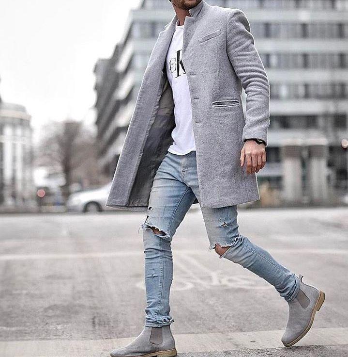 grey trenchcoat trends mens fashion en 2018 pinterest mode mode homme et fashion mode. Black Bedroom Furniture Sets. Home Design Ideas