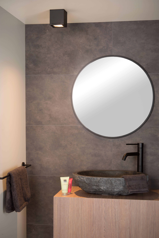Lucide Aven Ceiling Spotlight Bathroom 1xgu10 Ip65 Black Plafondlamp Badkamer Interieur
