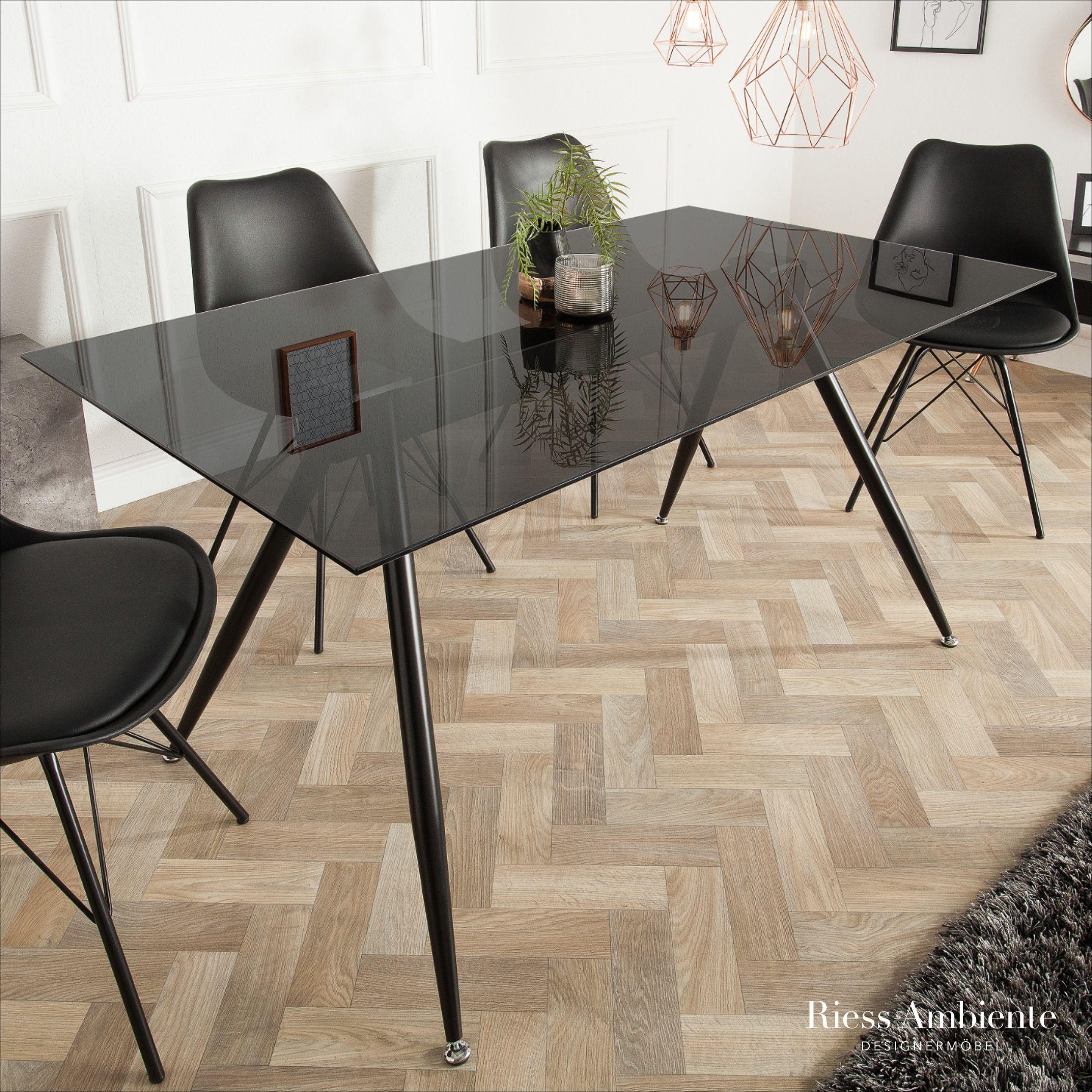Esstisch Fantome 180cm Grau Rauchglas Esstisch Retro Mobel Tisch