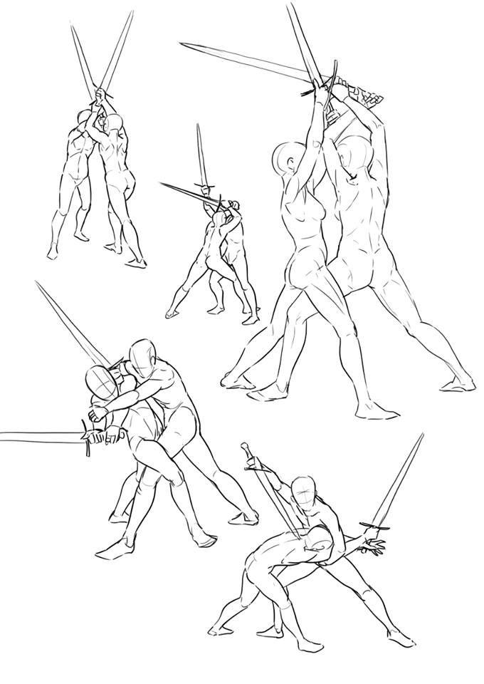 Sword Poses Art Reference Poses Drawing Poses Magic Drawing