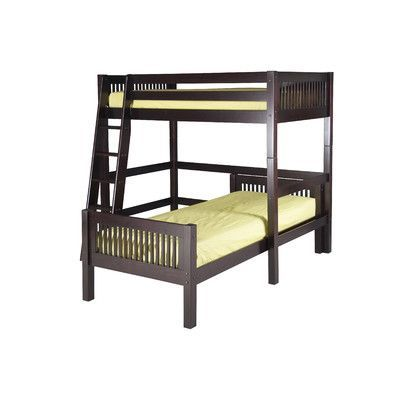 Camaflexi L-Shaped Bunk Bed Finish: Cappuccino, Configuration: Twin Over
