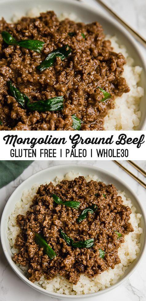 Mongolian Ground Beef Unbound Wellness Recipe Beef Recipes Paleo Recipes Ground Beef Recipes