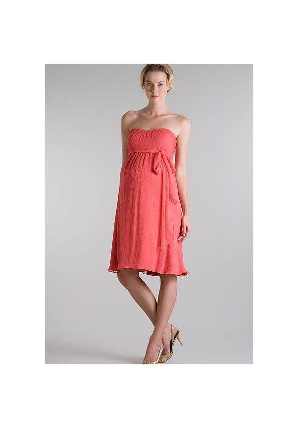 71c70bb44b4 99.00  Chiffon Strapless Empire Short Maternity Bridesmaid Dress ...