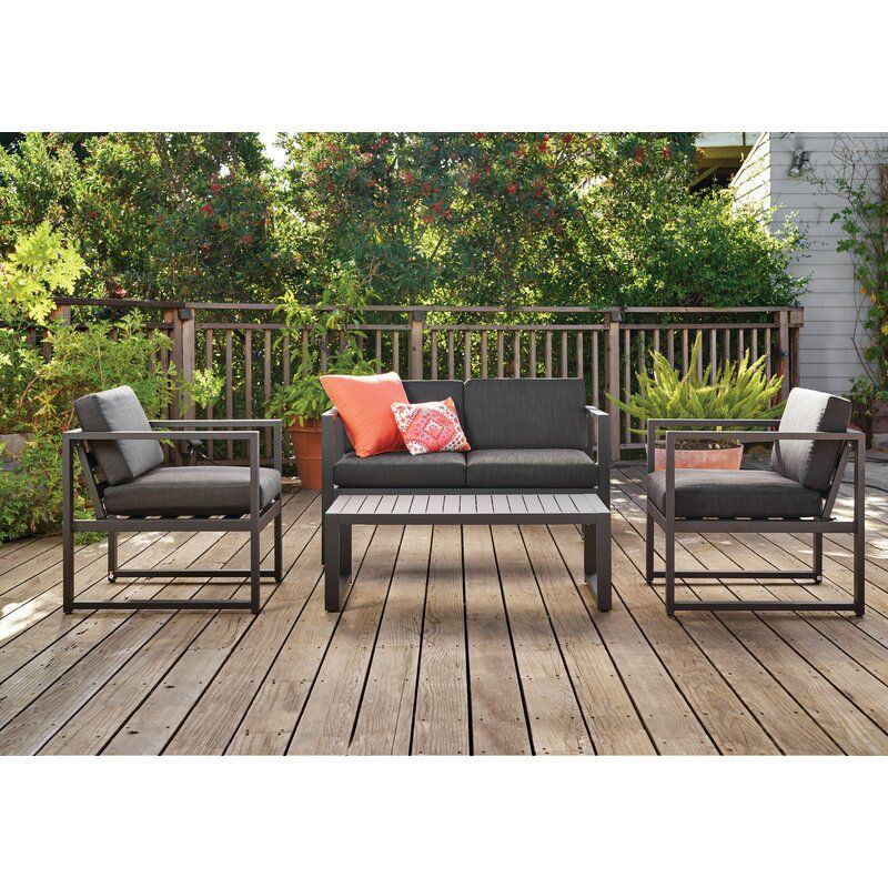 Mirando 4 Piece Sofa Seating Group with Cushions in 2020