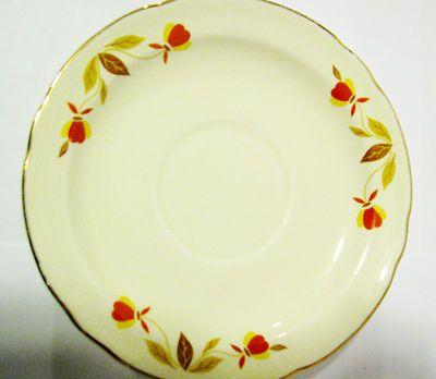Vintage Autumn Leaf Halls Superior China 6 Saucers Jewel Tea Dishes Dinnerware | eBay My familyu0027s & Vintage Autumn Leaf Halls Superior China 6 Saucers Jewel Tea Dishes ...