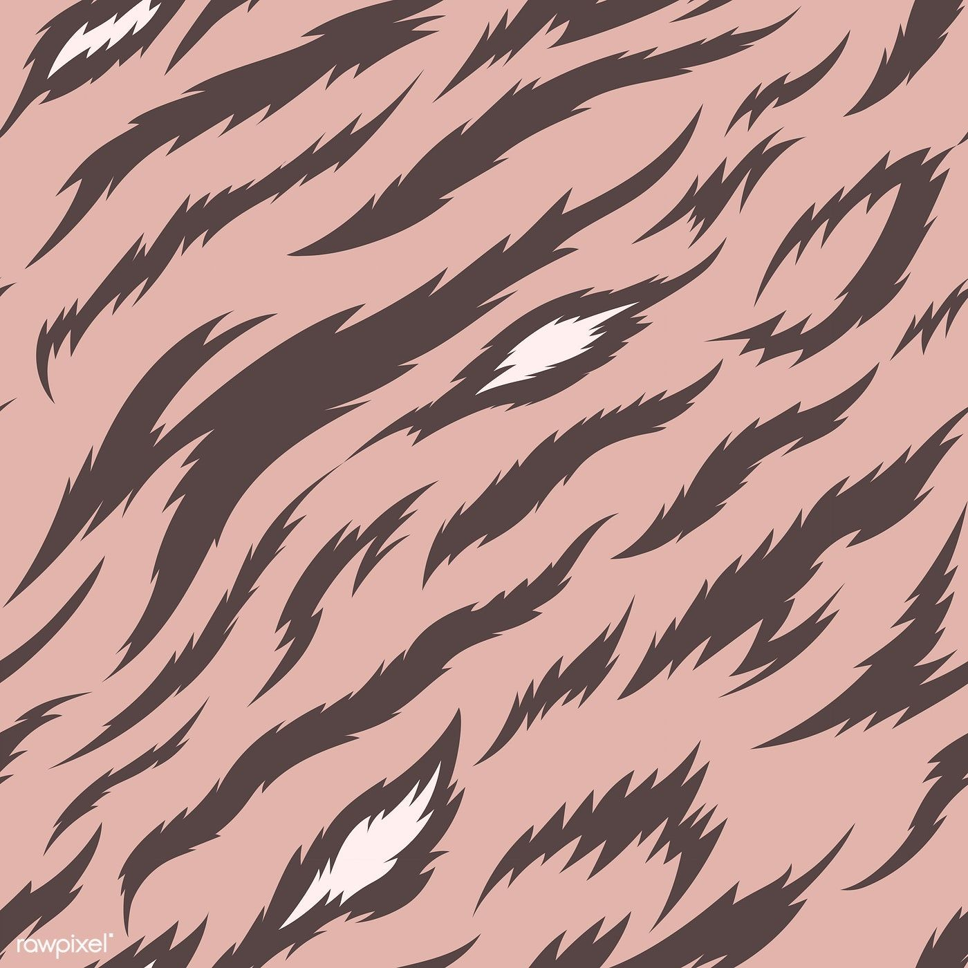 Tiger Stripes Seamless Vector Pattern Free Image By