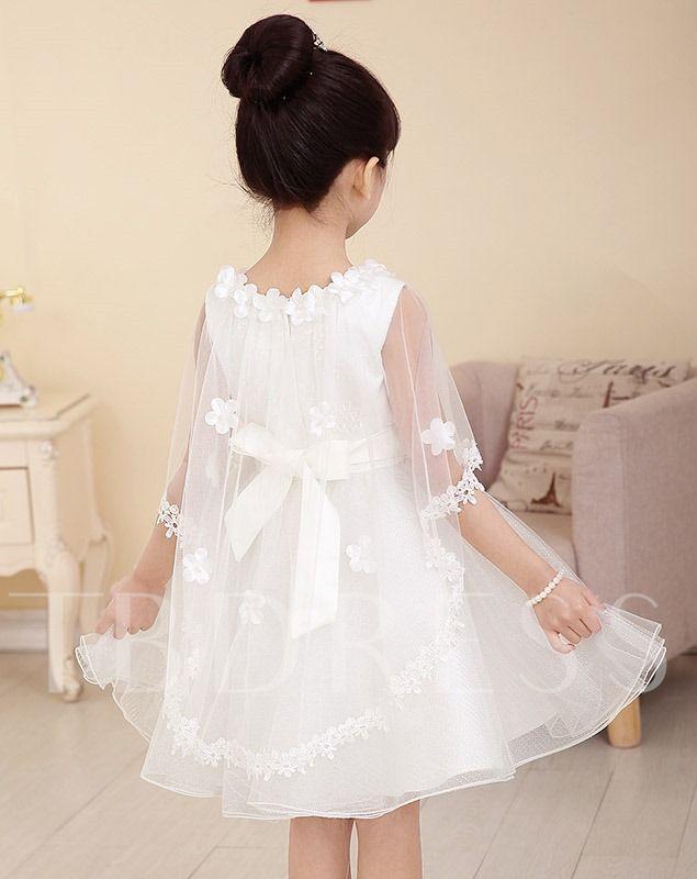 32ec0196ab2 Princess Style Short mini Scoop Flower Girl Dress with Jacket ...