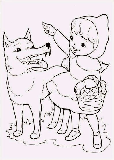 Cuentos Infantiles Caperucita Roja Colorear Red Riding Hood Wolf Red Riding Hood Art Little Red Riding Hood