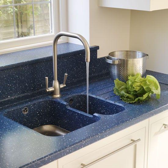 Blue Corian Worktops And Sink Kitchen Photo Gallery Beautiful Kitchens Housetohome