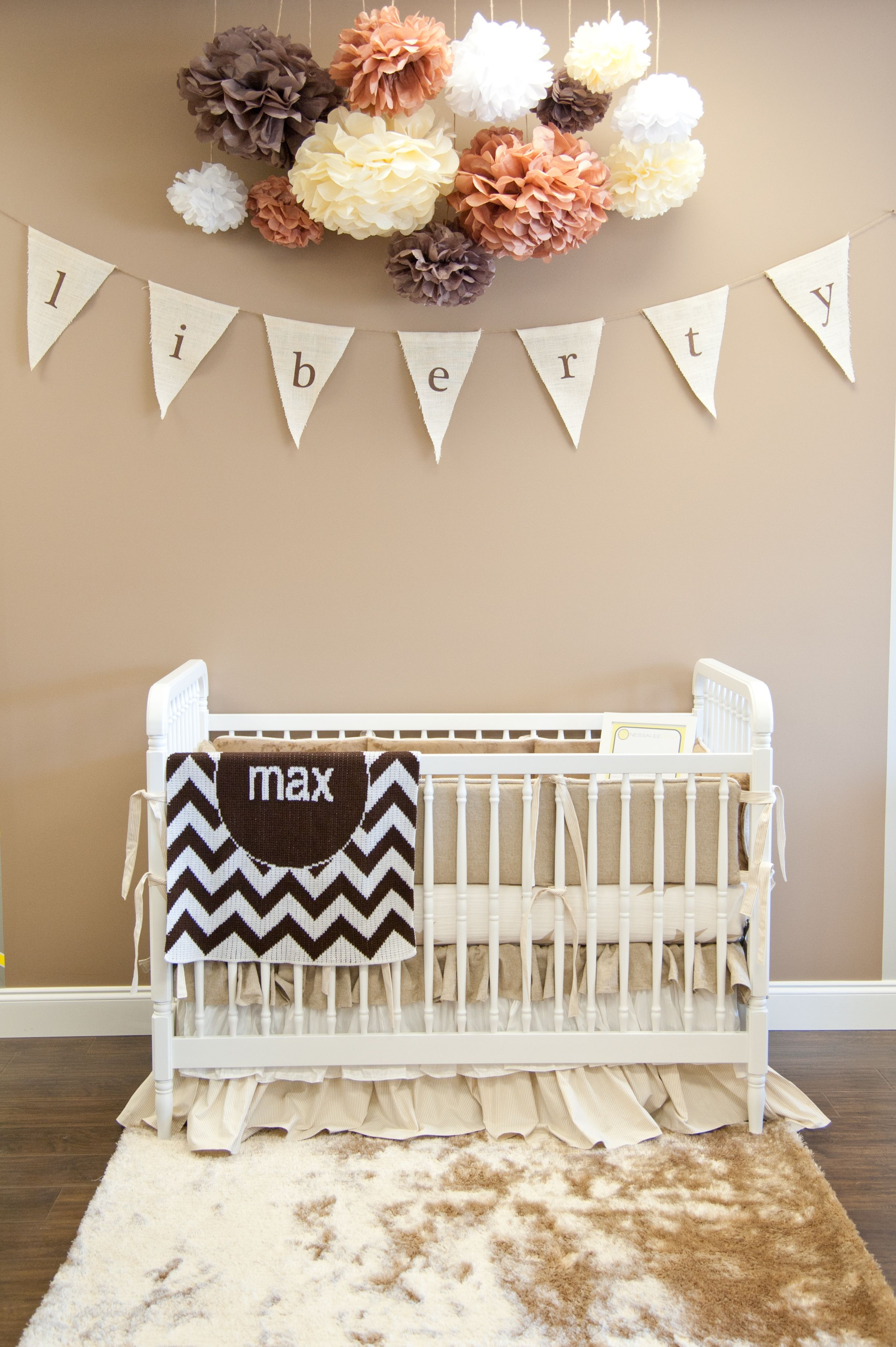 Crib for sale kelowna - Neutral Nursery Featuring Jenny Lind Style Crib At Nessalee Baby