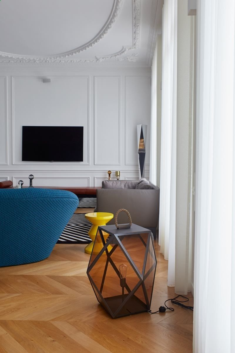 Gcg Architectes séjour appartement parisien de 115m2 gcg architectes 16 000