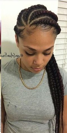 35 Goddess Braids with Weave Hairstyles in 2019