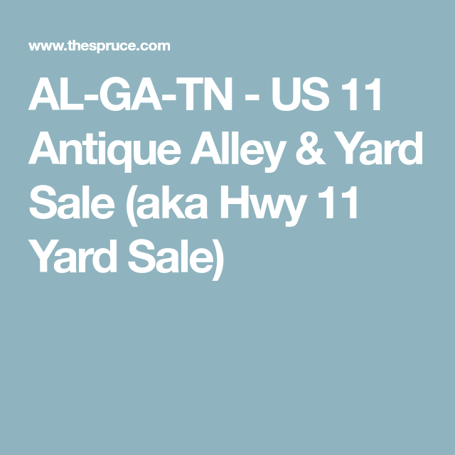 See the South When You Visit the U S  11 Antique Alley and