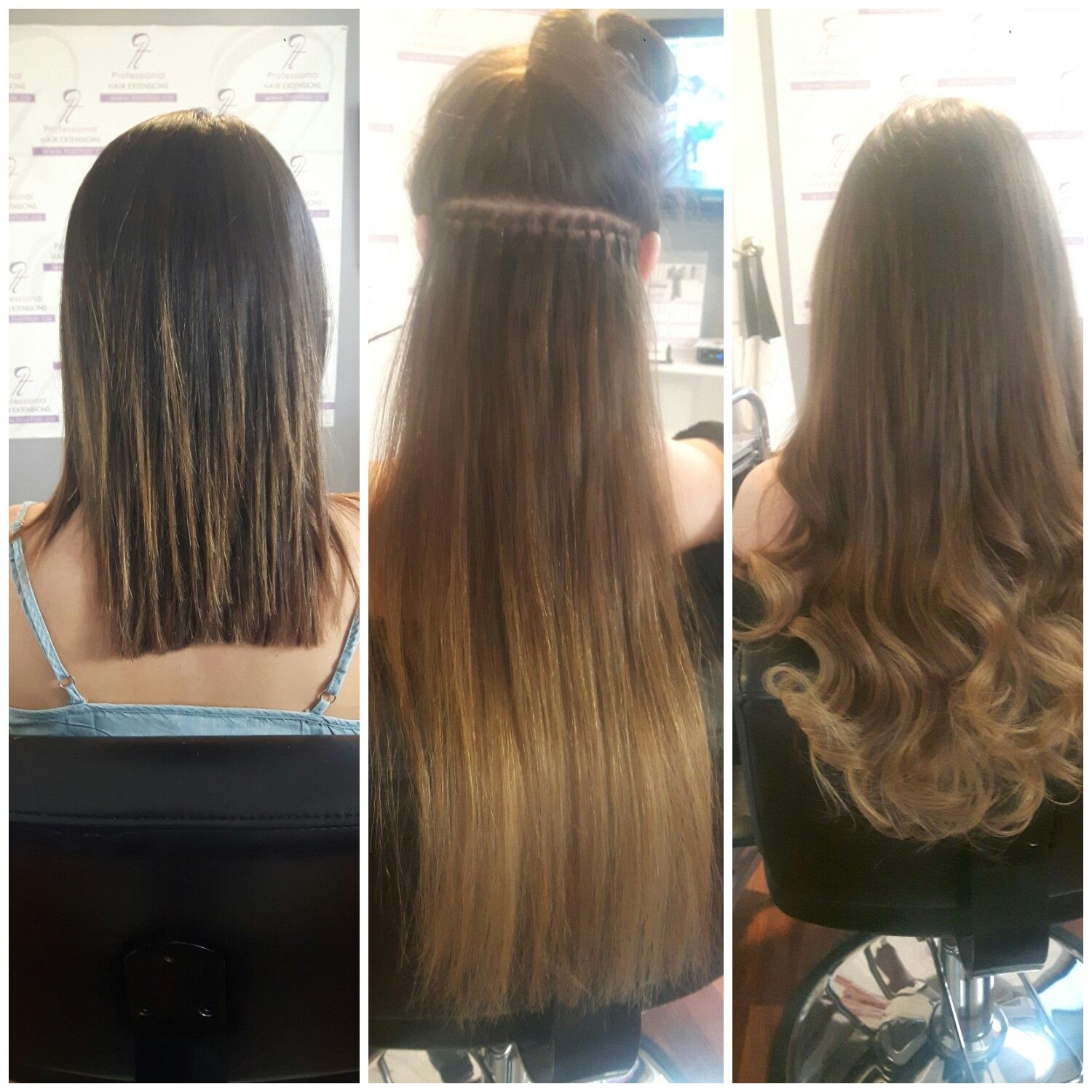 Before And After 26 Inches Of Premium Nano Extensions Expertly