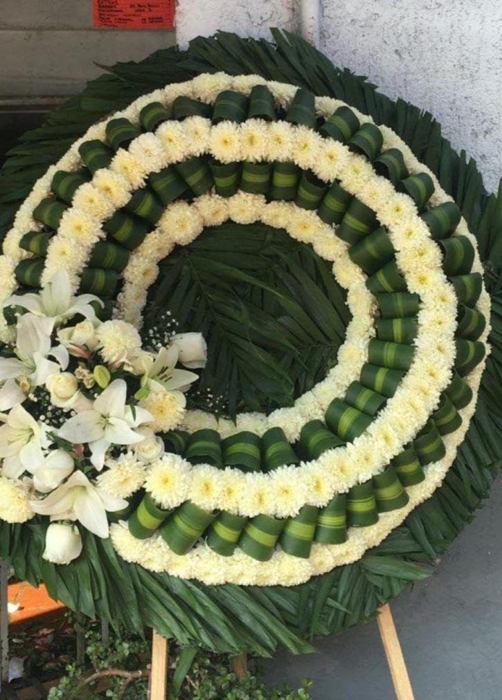 Corona Fúnebre Chica Guadalajara Ofrendas Arreglos