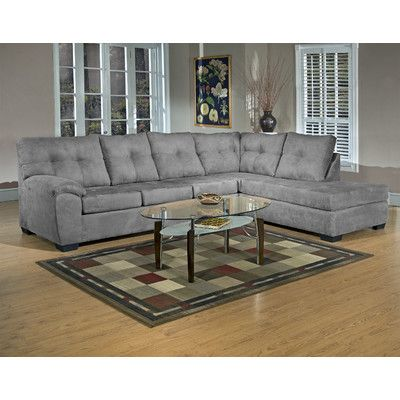 Gray microfiber sectional | Home Sweet | Sectional sofa ...