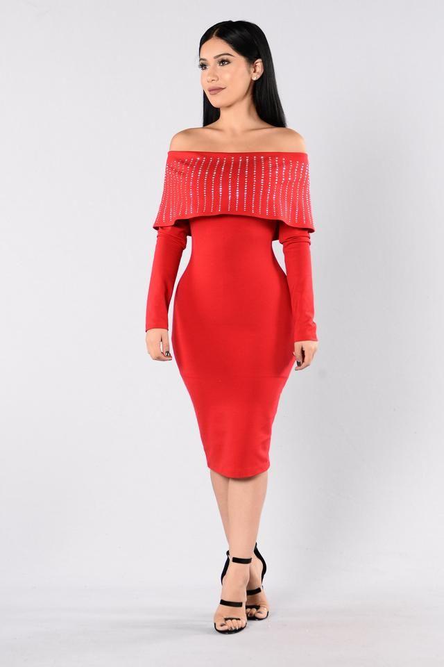 Beautifully Unbroken Dress - Red
