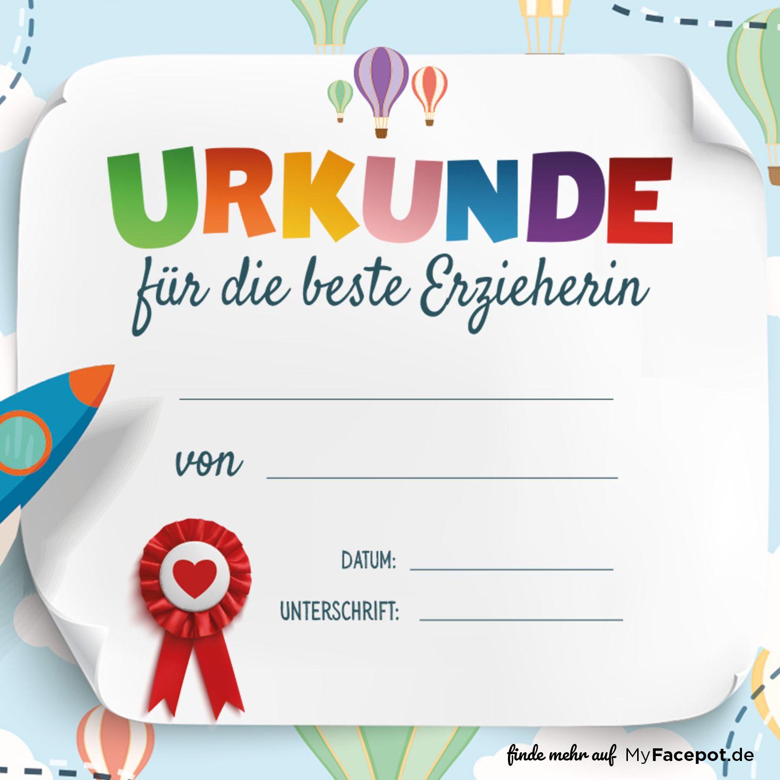 Alternative für lustige Abschiedssprüche: Urkunde für die beste ...