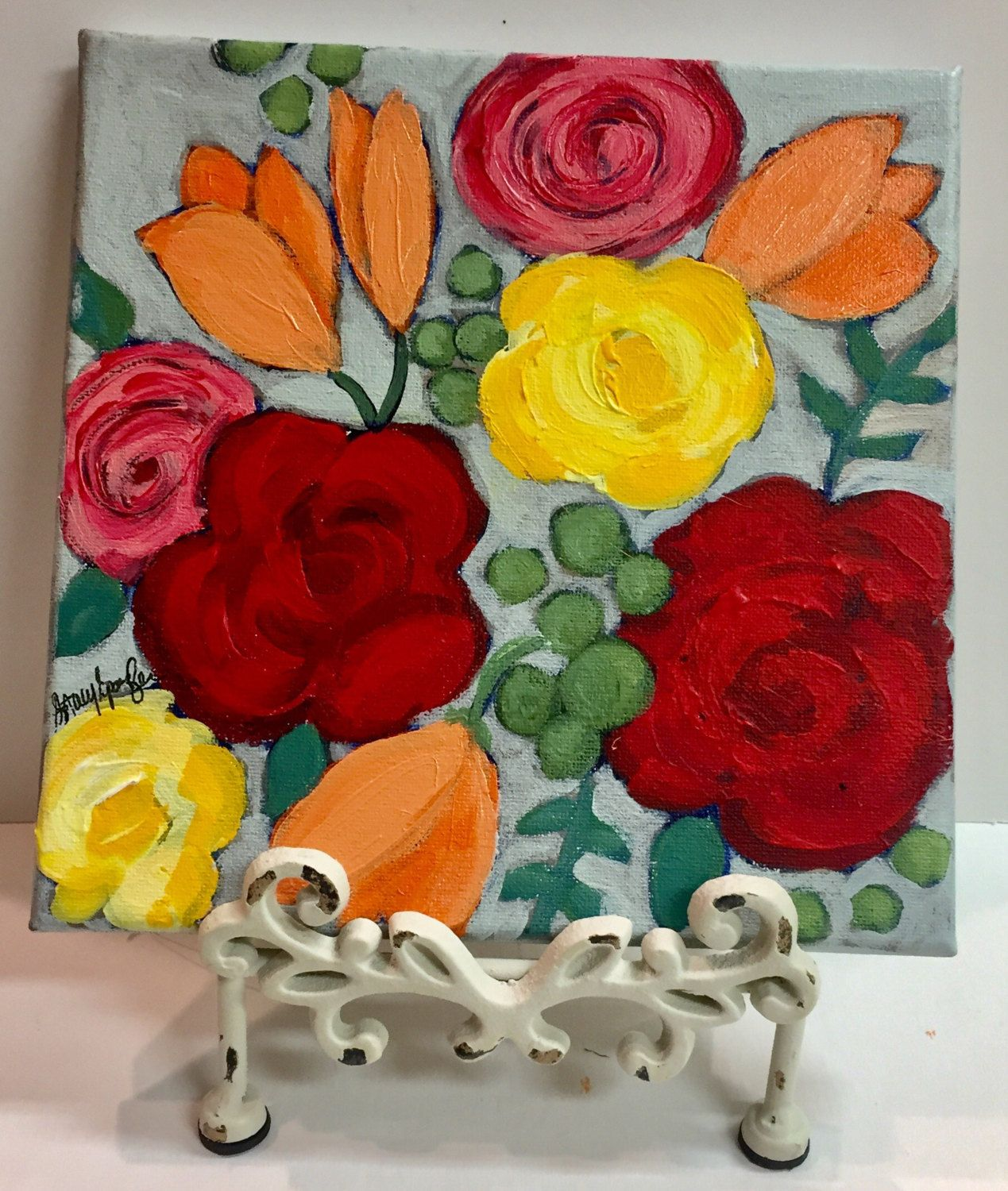Colorful flower painting by stacyspanglerart on Etsy   Stacy ...