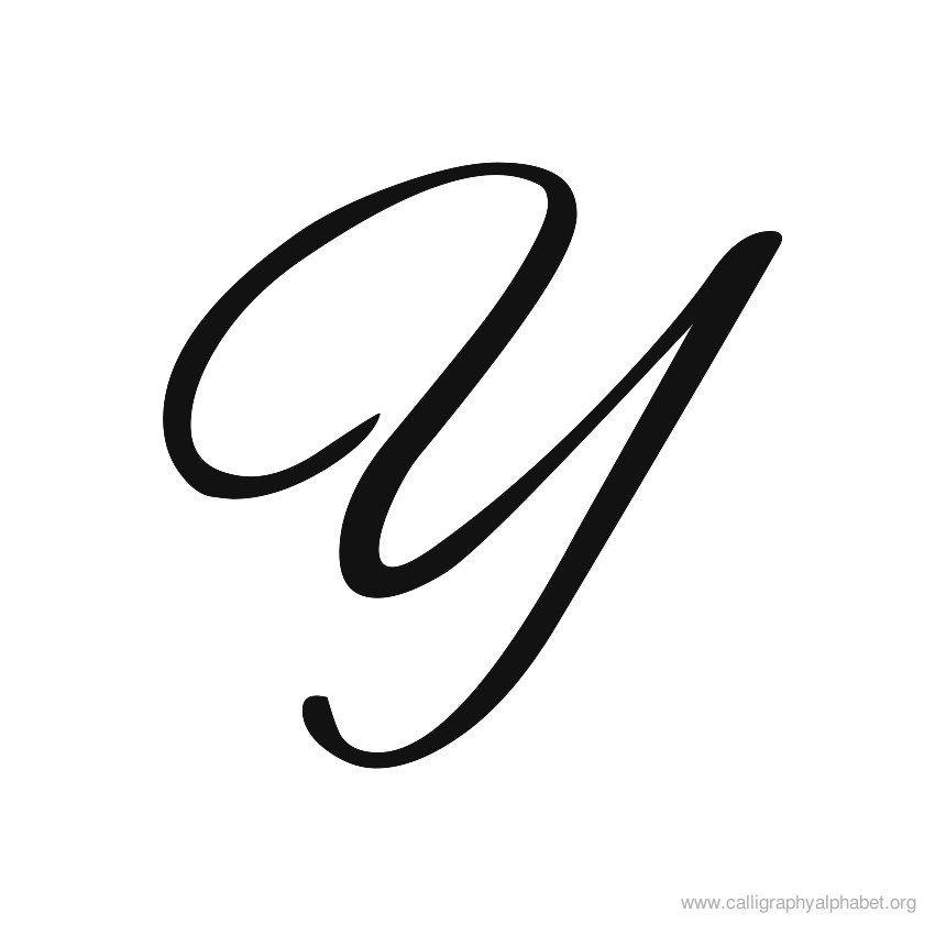 Calligraphy alphabet brush y fonts pinterest