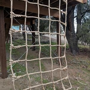 Climbing Net Handmade Kids 1 Pro Manila Rope 1 Etsy In 2020 Manila Rope Handmade Kids Backyard For Kids