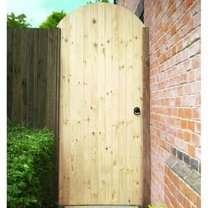Wickes Softwood Ledged Braced Arched Top Timber Gate Kit