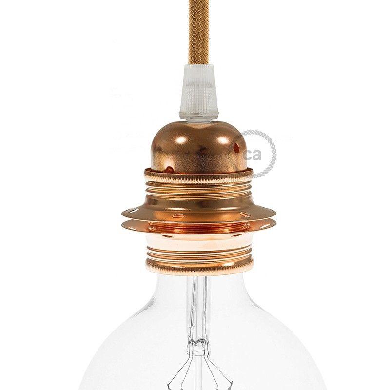 E27 Lampenfassung aus Metall mit Doppelklemmring | Lampe