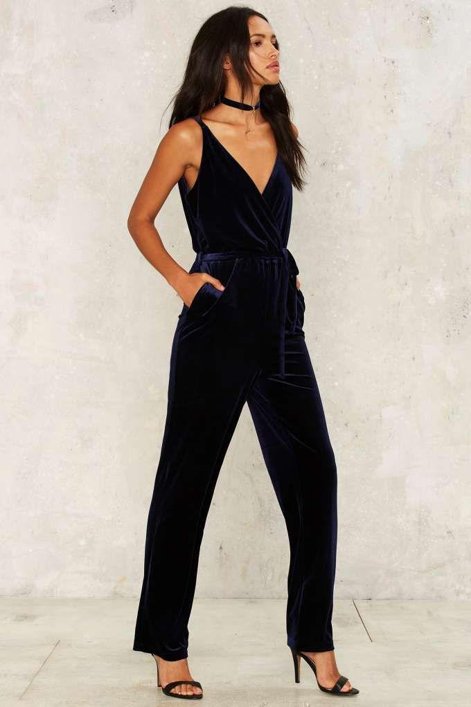 b68bc57007b8 Midnight Oil Velvet Jumpsuit - Clothes
