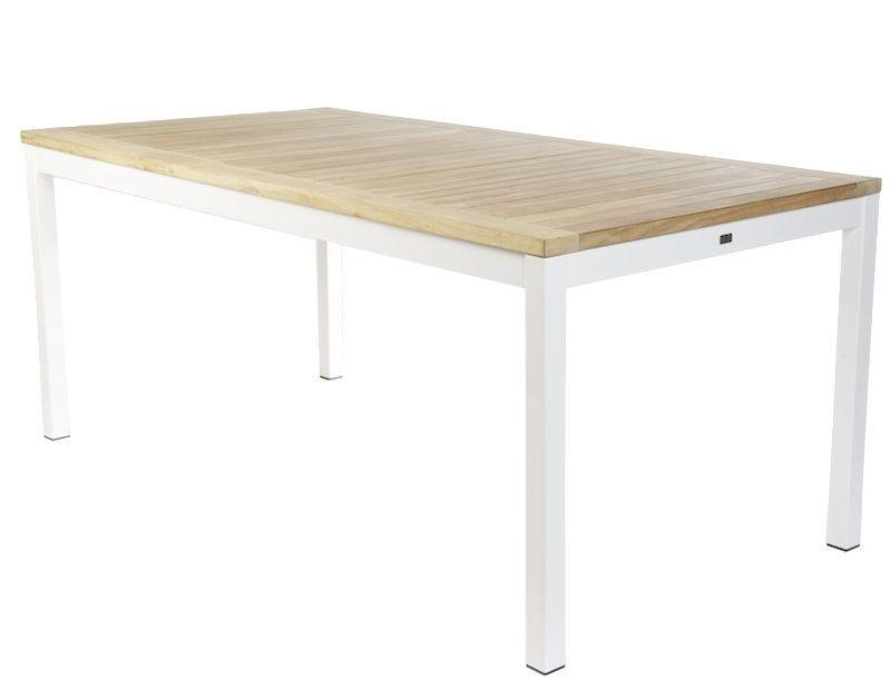 Jan Kurtz Quadrat Tafel Teak Aluminium Wit 180 X 90 Cm