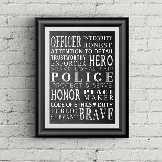 Police Wall Decor police officer gift law enforcement officer gift police wall art
