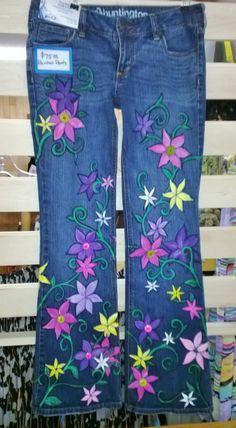 painted pants on Pinterest