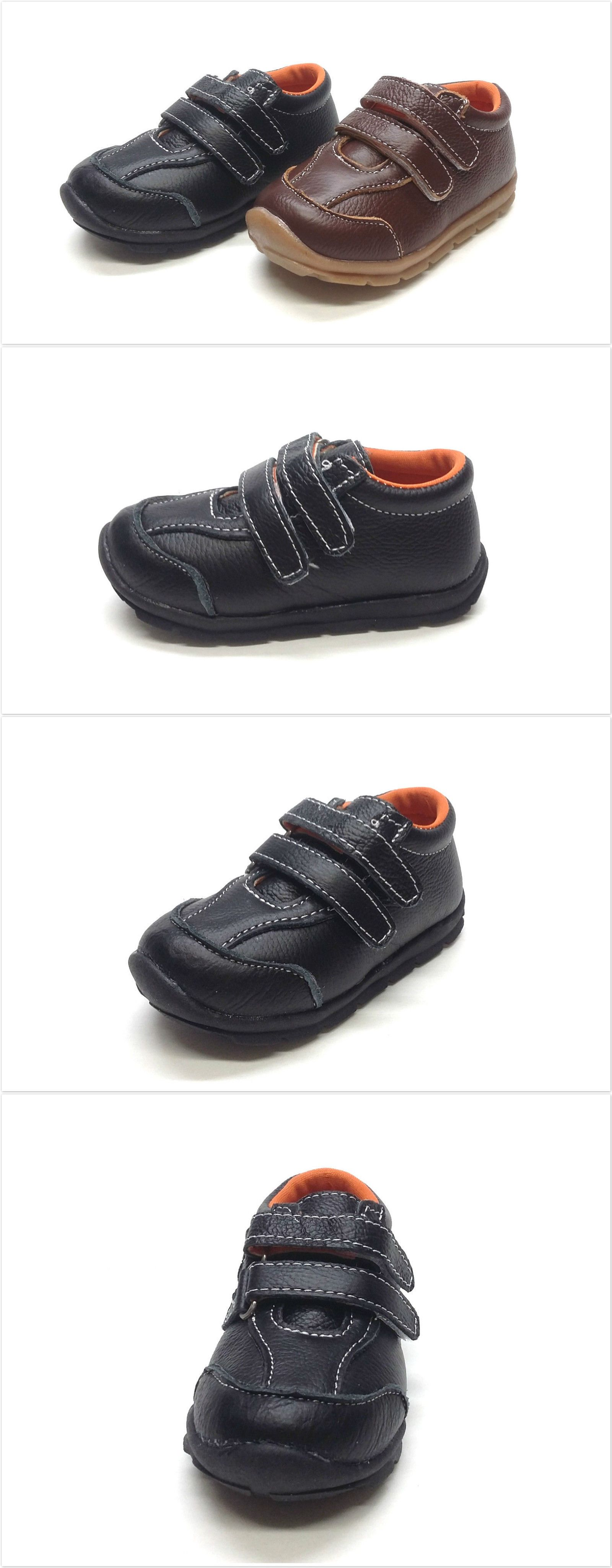 Baby Boy Shoes Nib Genuine Leather Infant Toddler Boy Sporty Shoes