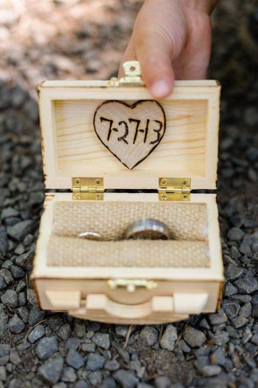 Wedding Ring Box RusticRing Pillow AlternativeRing Bearer Ring